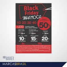 Banner – Sinhá Moça > Desenvolvimento de banner para a Black Friday das lojas Sinhá Moça < #banner #marcasbrasil #agenciamkt #publicidadeamericana