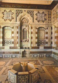 Beiteddine Palace, Lebanon.. Arabic proverbs written on the wall
