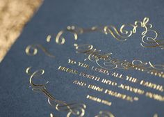Beautiful gold foil stamping - Yes, we can do that.    -Printing Concepts