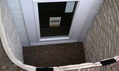 Interesting Egress windows lend a little light into a basement area. Egress Window, Basement, Windows, Root Cellar, Basements, Ramen, Window