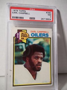 1979 Topps Earl Campbell RC PSA NM 7 Football Card #390 NFL HOF Collectible #HoustonOilers