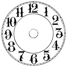 Three inch dial for 3 fit-up movements. Clock Template, Art Template, Clock Art, Diy Clock, Clock Face Printable, Extra Large Wall Clock, Stencils, Clock Tattoo Design, Fancy Watches