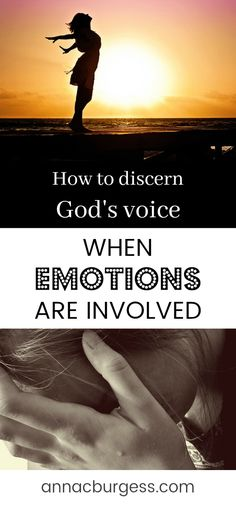 How can we discern God's voice from our own emotions? Is it God or is it me? Click the link to read Christian Living, Christian Life, Bible Verses For Women, Love Joy Peace, Bible Study Tips, Lesson Quotes, Bible Prayers, Free Bible, Gods Promises