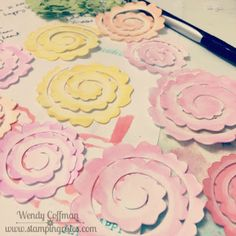 Stamping Rules!: Day 127: Rolled Flower Tutorial