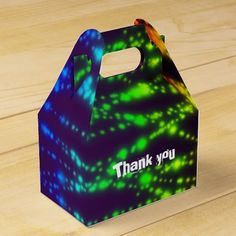 Glow in the Dark Neon Lights Party Favor Boxes