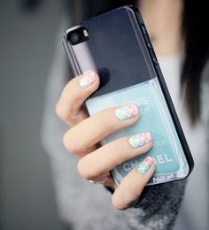 Squarred Gradient nail art