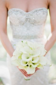 Karla Signature for Bride Bouquet-- Beautiful Texture of Open Cut Pristine Callas!