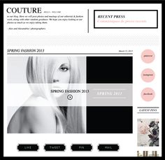 Couture Blog Template with matching marketing suite + social media bundle, exclusively from Dear Miss Modern Design Shop. www.dearmissmodern.com
