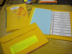 """1) Fold mailing envelope in half hamburger style. 2) Shave the edges of the three sides opposite the pocket i.e. cut just enough so they are not connected which will make book """"pages."""" 3) Cut in approximately one inch on the crease on each side of the envelope and then place a rubber band around the middle - file sized ones work best. 4) To add papers to the middle make cut ins on each side as you did with the envelope - but less deep. Burrito the papers to slide them under the rubber band."""