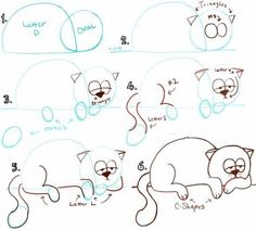 9 способов нарисовать кошку и жирафа