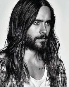 Long hair and beard- Jared Leto face shot Pretty People, Beautiful People, Hommes Sexy, Gorgeous Men, Sexy Men, How To Look Better, Hair Cuts, Celebs, Long Hair Styles