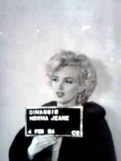 "Marilyn getting her passport under the name ""Norma Jeane DiMaggio"", 1954."