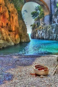 Fiordo di Furore, Almafi Coast, Italy.