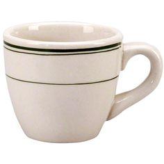 Vertex China (DMG-35) - 3-1/2 oz Coffee Cup - Del Mar Green Collection | FoodServiceWarehouse.com