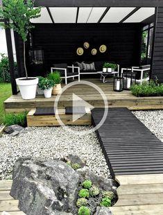Small Yard Landscaping, Backyard Garden Landscape, Small Backyard Landscaping, Landscaping Ideas, Backyard Pools, Mulch Landscaping, Garden Landscape Design, Small Patio, Design Patio