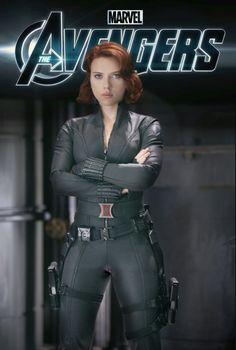 Scarlett Johansson as Black Widow from the Marvel Studios Movie The Avengers