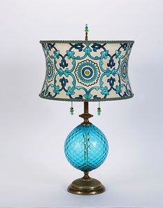 Ingrid by Susan Kinzig and Caryn Kinzig: Mixed-Media Table Lamp available at www.artfulhome.com
