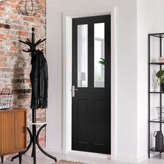 Black French Doors, Innovative Companies, Walnut Veneer, Single Doors, Internal Doors, Tall Cabinet Storage, Interior, Modern, Furniture