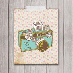 8x10 Art Print, Camera, Trendy Decor, Shabby Chic, Hipster Art, Printable Art, Hipster Print, Wall Art, Home Decor, INSTANT DOWNLOAD