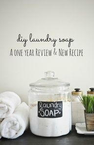 DIY Laundry Soap- a one year review  new and improved recipe!  source img