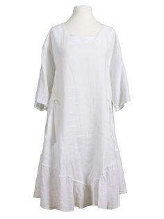 Damen Tunika Kleid aus Leinen, weiss von les fr�res bei www.meinkleidchen.de