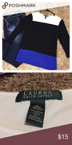 Ralph Lauren Top Super cute color block Ralph Lauren Top. Size Large but runs smaller Ralph Lauren Tops