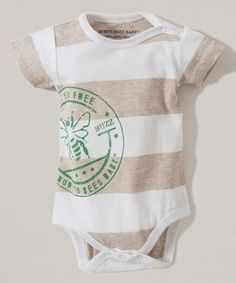 Love this Sand Heather Rugby Stripe Organic Bodysuit - Infant on #zulily! #zulilyfinds