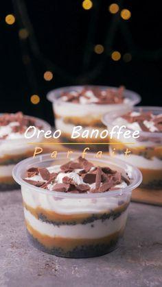 Parfait Desserts, Parfait Recipes, Mini Desserts, Mini Dessert Cups, Mason Jar Desserts, Desserts In A Glass, Mini Dessert Recipes, Individual Desserts, Banoffee Pie