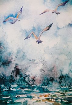 The Cry Of The Gulls by Angel Bruton on ArtClick.ie Irish Art