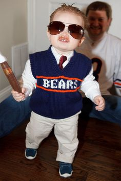 Oh my goodness. Little boy dressed as Mike Ditka. SO CUTE.