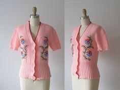 embellishment idea for a plain cardigan or tshirt