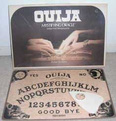 My mom would NEVER let a Ouija Board in her house.....so I had to play it at my friend's house haha!!!