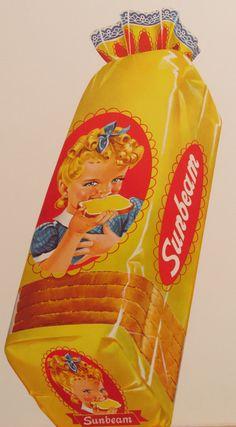 Original Vintage Sunbeam Bread Loaves Poster by HodesH on Etsy, $55.00