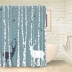 Foog Shower Curtain Christmas Deer Birds Bathroom Shower ... https://www.amazon.com/dp/B01NCLKPOG/ref=cm_sw_r_pi_dp_x_PWrwyb9GG2QCF
