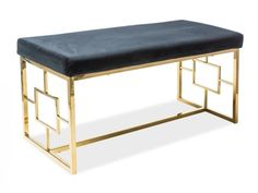Banca tapitata Noir #homedecor #interiordesign #inspiration #gold #black #elegant #homedesign Restaurant Seating, Home Gadgets, Vanity Bench, The Hamptons, Furniture Design, Entryway, Glamour, House Design, Living Room
