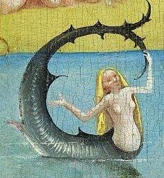 Mermaid (centre panel detail) from The Garden of Earthly Delights, painted by Hieronymus Bosch between 1480-1505. Oil on panel | Prado