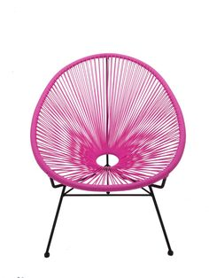This iconic 1950's Mexican chair oozes both retro and contemporary cool. Found on beaches, under trees and lounges throughout Mexico, and now in Australia! Legend has it that a French tourist was visiting Acapulco in the '50s and was uncomfortably hot atop a solidly-constructed chair in the Mexico sunshine. Inspired by the open string construction of traditional Mayan hammocks nearby, he designed a chair fit for the modern tropics. Pair with other pieces from this collection.   NB: The…