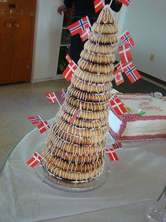 """Kranse Kage...Danish """"wedding cake""""...possibly my favourite thing in the world."""