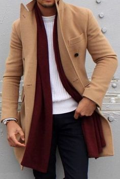 Why Every Guy Should Own A Camel Overcoat - Men's Fashion Fashion Mode, Look Fashion, Mens Fashion, Fashion Trends, Fall Fashion, Fashion Ideas, Fashion Menswear, Grey Fashion, Fashion Styles