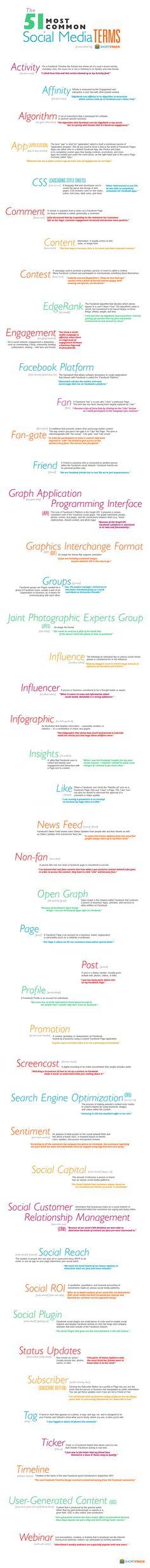51 Social Media Terms #Infographic www.socialmediamamma.com