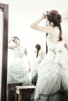 Bridal wear by Arwen Garmentry Photographer: Benjamin Skinner model: Kayli 'Elit Smith For DeKat Magazine