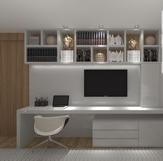 47 Trendy Home Office Furniture Layout Bedrooms Home Office Layouts, Home Office Space, Home Office Design, Home Office Furniture, Home Office Decor, Spare Room Home Office Ideas, Office Desk, Bedroom Furniture, Shelves Above Desk