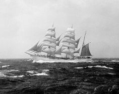 Anything better than EAGLE under full sail in a big blow with a bone in her teeth? 1954. Before the stripe!
