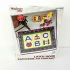 ABC Rug hooking Kit by Wonderart Caron x Wonderart ABC Latch Hood Kit. Produced by Wonderart a division of Caron International. Kit includes rug canvas, and precut yarn and illustrated guide. Rug Hooking Kits, Latch Hook Rug Kits, Burda Patterns, Baby Kit, Native American Indians, Room Rugs, Craft Kits, Needlepoint, Nursery