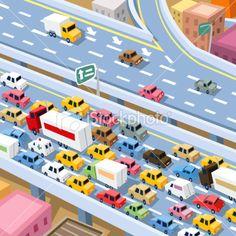 Traffic Jam Royalty Free Stock Vector Art Illustration