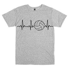 Pulse of Volleyball Heartbeat t-shirt custom by tshirtsmade4you