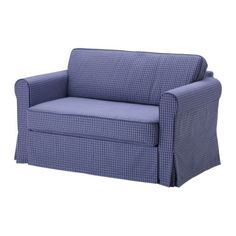 HAGALUND Sofa bed - Fruvik blue - IKEA - looks like it is love-seat size.  Interesting design (for the pull out bed part).