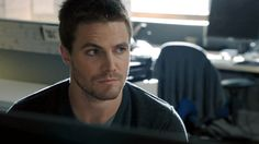 """#Arrow reaction gifs """"What?"""" So funny he looks at the computer like 5 times!! Lol"""