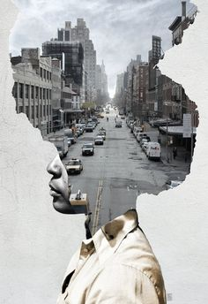 36 Trendy Ideas For Landscape Collage Photography Double Exposure Collage Kunst, Art Du Collage, Collage Portrait, Collage Illustration, Collage Design, Collage Artists, Creative Illustration, Photomontage, Photo D Art