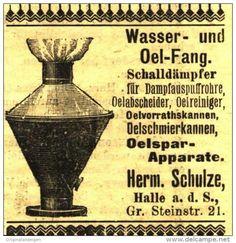 Original-Werbung/Anzeige 1903 - WASSER- UND OELFANG / SCHULZE HALLE a.d. SAALE - ca. 45 x 45 mm